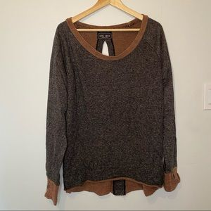 Oversized heathered brown sweater